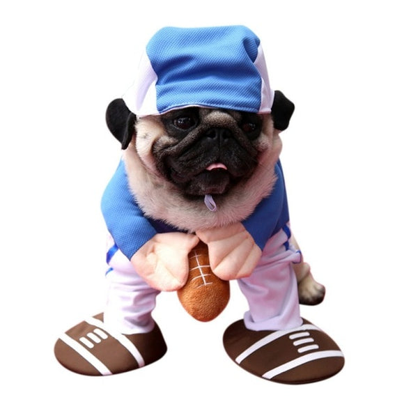 Halloween Dog Costumes Funny Pet Clothes Adjustable Dog Cosplay Costume Sets Novelty Clothing For Medium Large Dogs Bulldog Pug