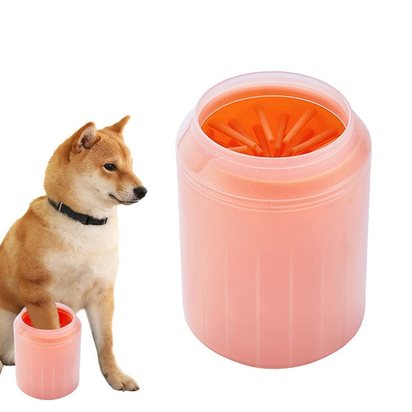 Silicone Dog Paw Cleaning Cup Pet Paw Massage Comb Portable Puppy Foot Washer Dog Cat Dirty Paw Cleaner Pet Feet Wash Bucket