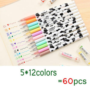 Milky Cow 12 Color Diamond Pen Gel