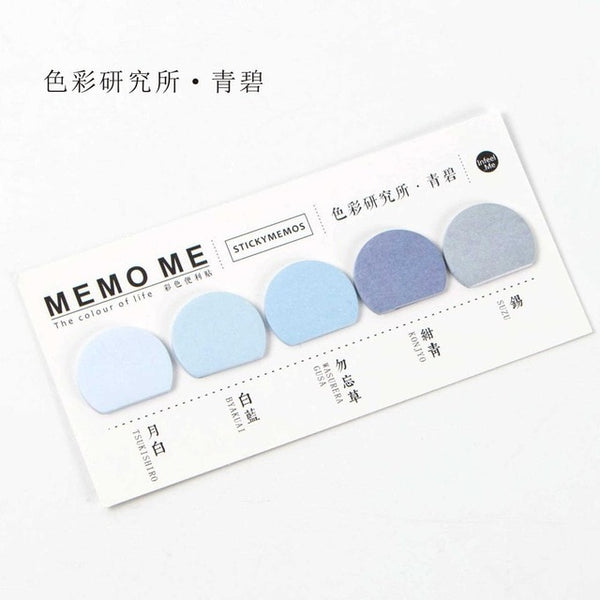 Round Shape Various Colourful Self-Adhesive N Times Memo Pad