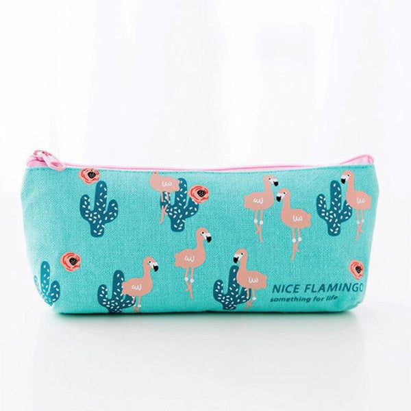 Pencil Case Flamingos Canvas