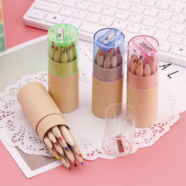 Wooden Color Pencil Set with Sharpener