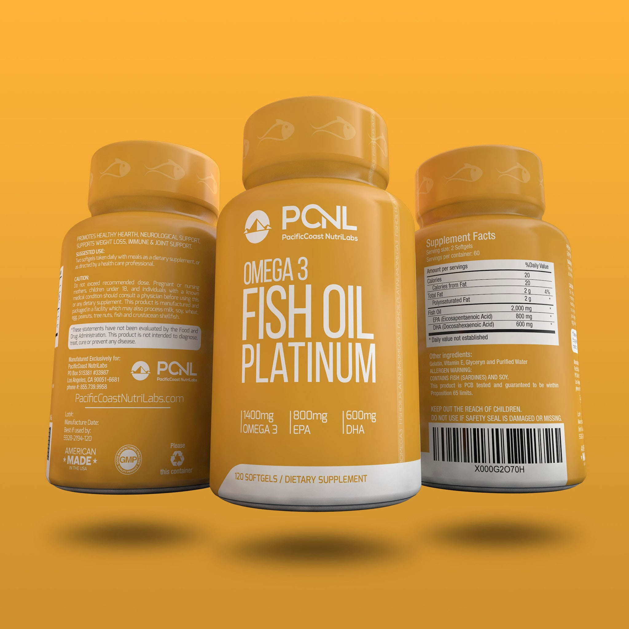 2,000 MG Fish Oil Omega 3