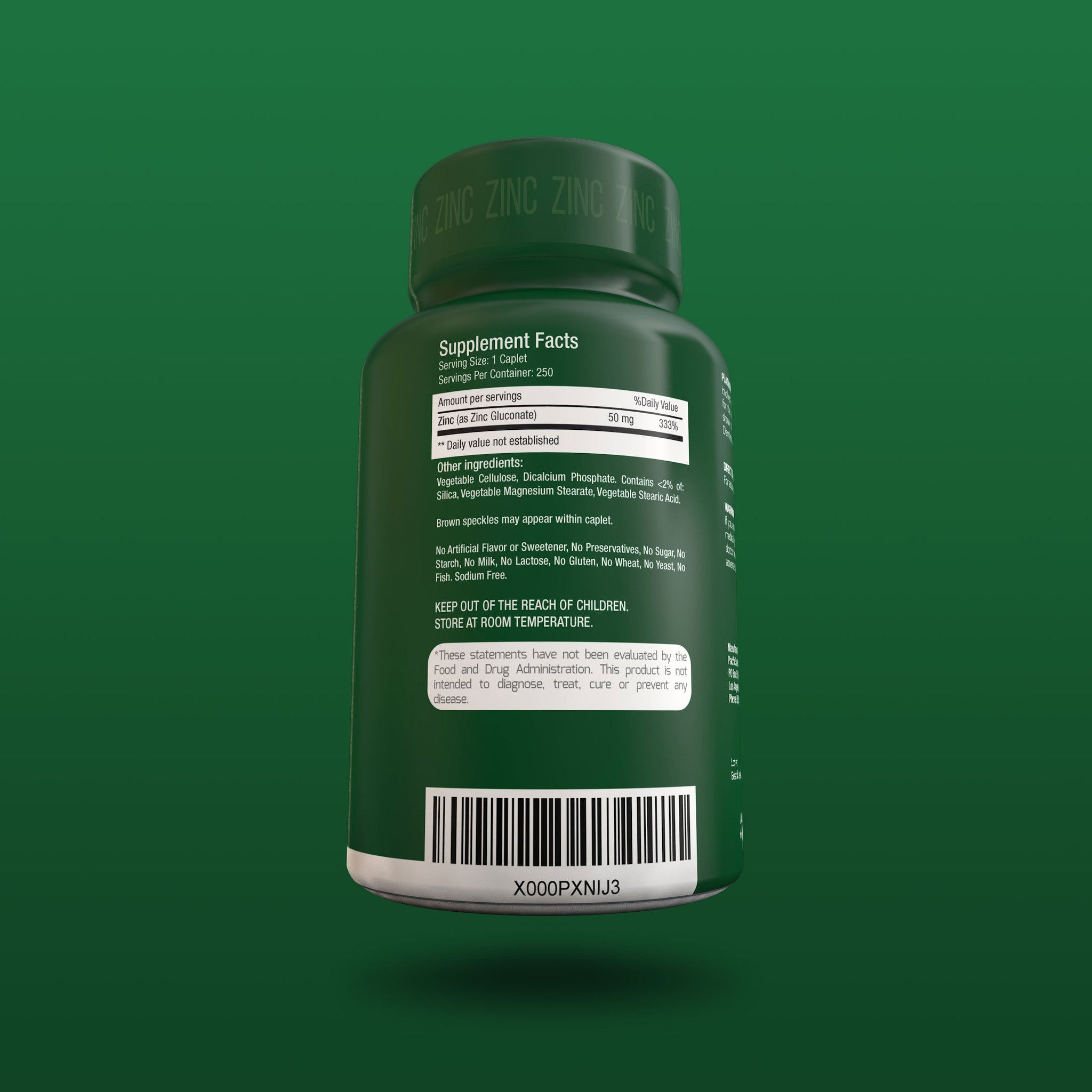 50MG Zinc Gluconate
