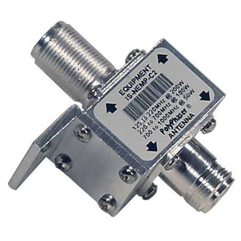 PolyPhaser - 125-1000 MHz Bulkhead Protector, N/F -  IS-NEMP-C2