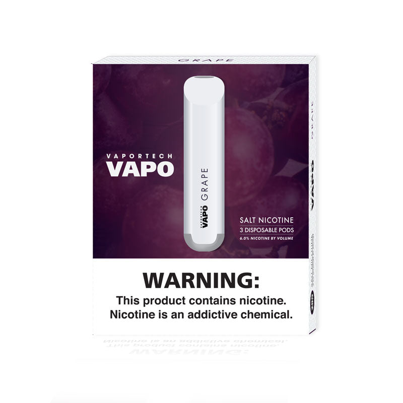 VaporTech Vapo - GRAPE (3 pods per pack) - VaporTech USA