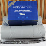 White Goose Down Blanket - Monument
