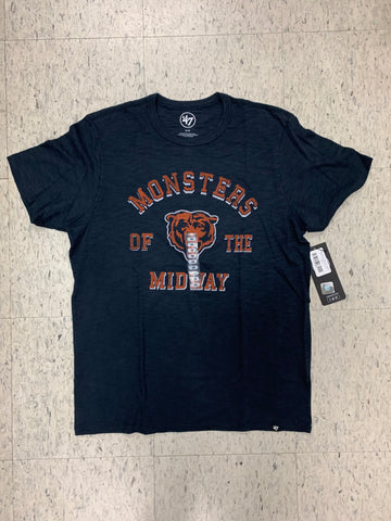 Chicago Bears Monsters Of The Midway Adult 47 Brand Blue Shirt