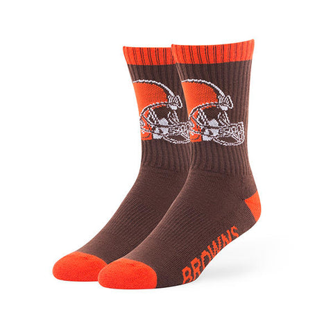 Cleveland Browns '47 Brand Bolt Adult Socks