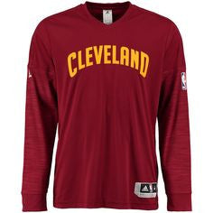 Cleveland Cavaliers Adidas 2015 NBA Men's On-Court Authentic L/S Shooting Shirt - Dino's Sports Fan Shop