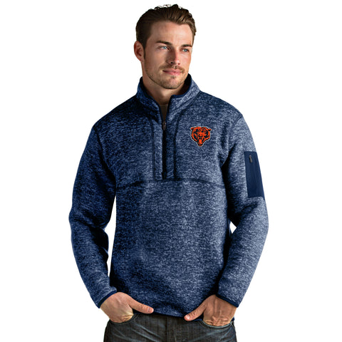 Chicago Bears Adult Blue Antigua Quarter Zip