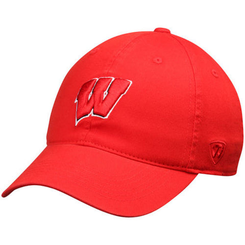 Wisconsin Badgers Top of the World Relaxer One-Fit Hat - Dino's Sports Fan Shop