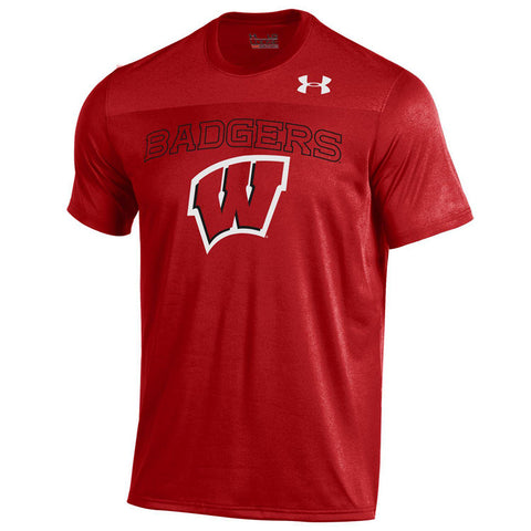 Wisconsin Badgers Under Armour Foundation Shirt - Dino's Sports Fan Shop
