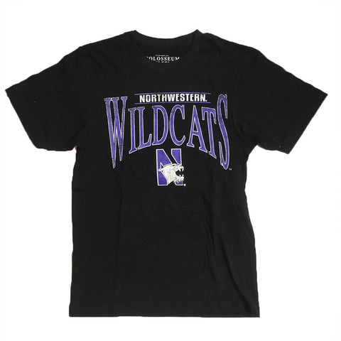 Northwestern Wildcats Colosseum Black Adult Shirt - Dino's Sports Fan Shop