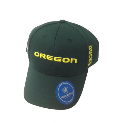 Oregon Ducks Top of the World Green Adjustable Memory Fit Hat - Dino's Sports Fan Shop