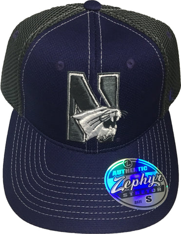 Northwestern Wildcats Zephyr Rally 2 Stretch Fit Hat 69372c7bf72b