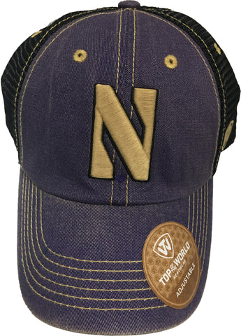 Northwestern Wildcats Top of the World Past Trucker Mesh Hat