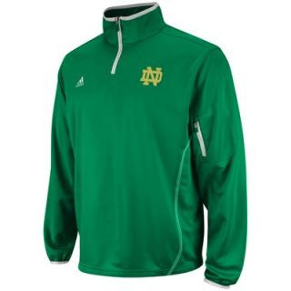Notre Dame Fighting Irish Adidas  Football Sideline 1/4 Zip Pullover - Dino's Sports Fan Shop