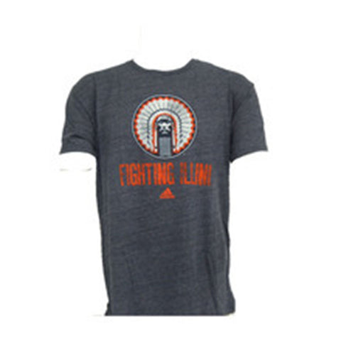 Illinois Fighting Illini Adidas Chief Logo Go-To Shirt - Dino's Sports Fan Shop