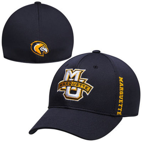 Marquette Golden Eagles Top of the World Navy Booster Memory Fit Hat - Dino's Sports Fan Shop