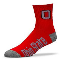 Ohio State Buckeyes For Bare Feet NCAA Red Performance Crew Socks