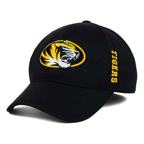Missouri Tigers Top of the World Black Booster Memory Fit Hat - Dino's Sports Fan Shop