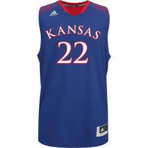 Kansas Jayhawks #22 Adidas Blue Adult 2014 March Madness Basketball Jersey - Dino's Sports Fan Shop