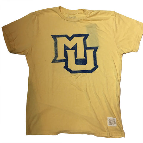 Marquette Golden Eagles Retro Brand Gold Giant Logo Shirt - Dino's Sports Fan Shop