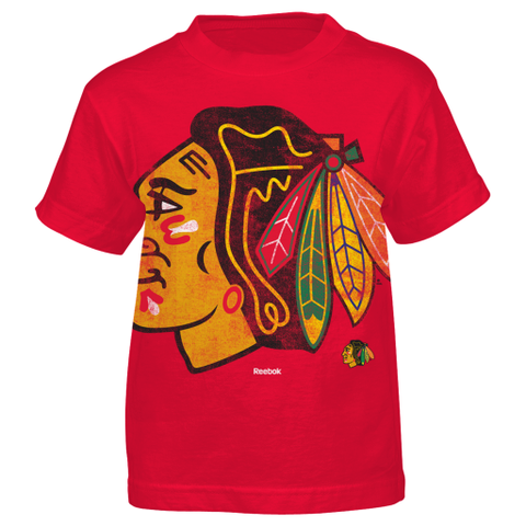Chicago Blackhawks Reebok Oversized Logo Youth Shirt - Dino's Sports Fan Shop