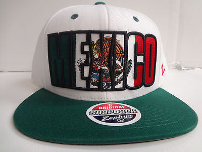 "Mexico Zephyr Country Flag ""Superstar"" Snapback Hat - Dino's Sports Fan Shop"