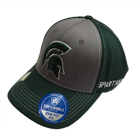 Michigan State Spartans Top of the World Dynamic Stretch Fit Hat M/L - Dino's Sports Fan Shop