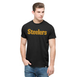 Pittsburgh Steelers '47 Brand Black Lettered Adult Shirt - Dino's Sports Fan Shop - 1