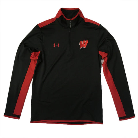 Wisconsin Badgers Under Armour Survival Black/Red 1/4-Zip - Dino's Sports Fan Shop