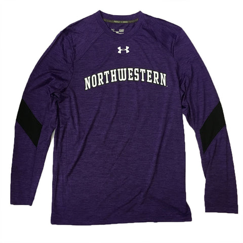 Northwestern Wildcats Under Armour Youth Sideline L/S Training Shirt - Dino's Sports Fan Shop
