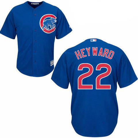 Jason Heyward #22 Chicago Cubs Majestic Youth Blue Cool Base Replica Jersey - Dino's Sports Fan Shop
