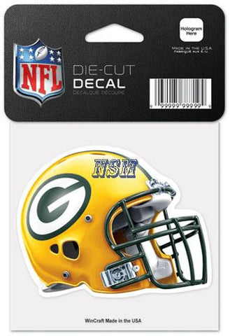 Green Bay Packers Wincraft Helmet 4x4 Decal - Dino's Sports Fan Shop