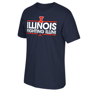 Illinois Fighting Illini Adidas Dassler Go-To Shirt - Dino's Sports Fan Shop