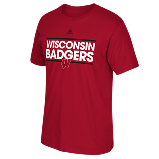 Wisconsin Badgers Adidas Red Dassler Go-To Shirt - Dino's Sports Fan Shop