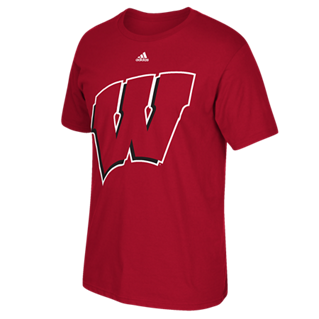 Wisconsin Badgers Adidas Logo Ultimate Shirt - Dino's Sports Fan Shop