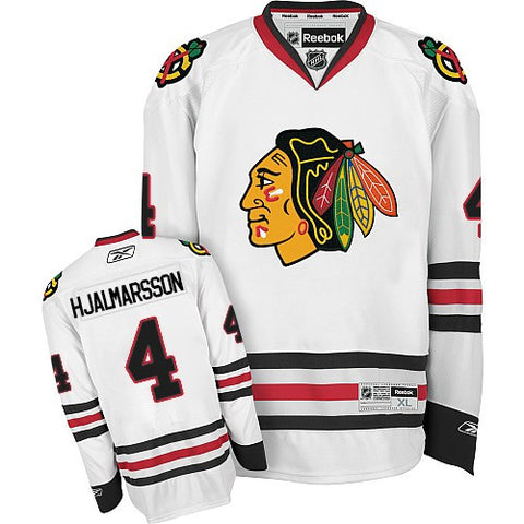 Niklas Hjalmarsson #4 Chicago Blackhawks Reebok Road White Premier Jersey - Dino's Sports Fan Shop