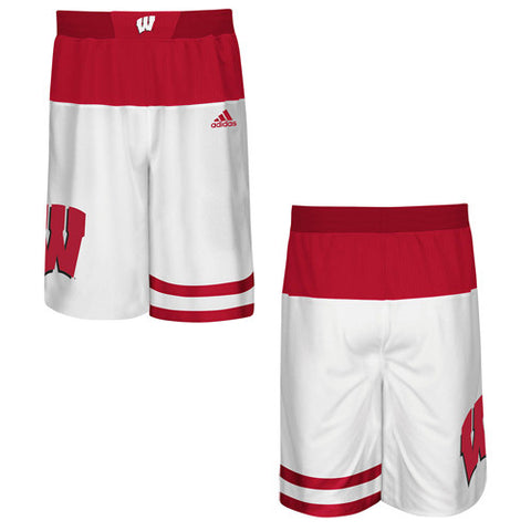 Wisconsin Badgers Adidas 2015 NCAA Tournament Youth Shorts - Dino's Sports Fan Shop