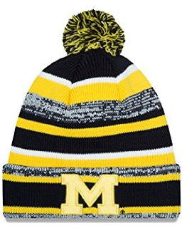 Michigan Wolverines New Era NE14 Sport Knit Hat - Dino's Sports Fan Shop