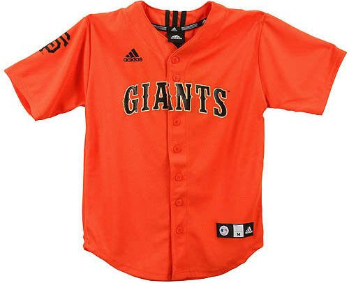 newest 6352a 7730c San Francisco Giants MLB Adidas Youth Team Color Applique Baseball Jersey