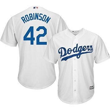 Jackie Robinson #42 Brooklyn Dodgers MLB Youth Stitched Cool Base Home Jersey - Dino's Sports Fan Shop