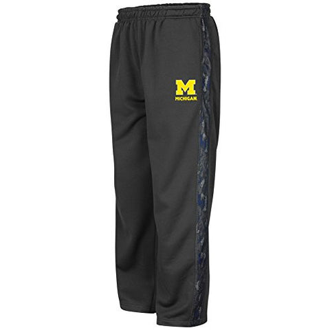 Michigan Wolverines Active Wear Youth Gray Poly Fleece Pants - Dino's Sports Fan Shop