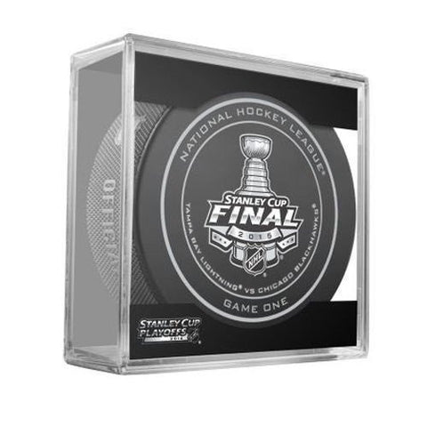 Tampa Bay Lightning vs. Chicago Blackhawks 2015 NHL Stanley Cup Finals Game 6 Puck - Dino's Sports Fan Shop