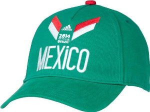 Mexico Adidas 2014 World Cup Soccer Futbol Adjustable Hat - Dino's Sports Fan Shop