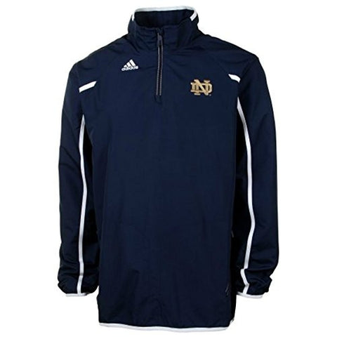 Notre Dame Fighting Irish Adidas ClimaLite 1/4 Zip Sideline Performance Coaches Pullover - Dino's Sports Fan Shop
