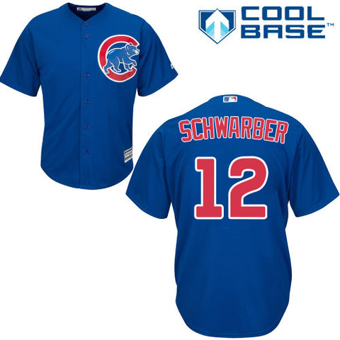 Kyle Schwarber Youth #12 Chicago Cubs Blue Replica Jersey