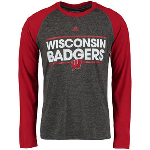 Wisconsin Badgers Adidas Dassler L/S Ultimate Shirt - Dino's Sports Fan Shop